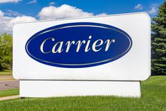 Carrier Corporation Sign and Logo Stock Photos