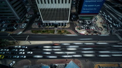 Timelapse and aerial view of the transportation in the downtown of Abu Dhabi Arkistovideo