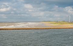 Dutch coast near IJmuiden - stock photo