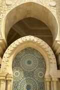 Morocco. Detail of Hassan II Mosque in Casablanca Kuvituskuvat