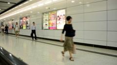 Hong Kong - AUGUST 1, 2014: Hong Kong metro on August 1 in Hong Kong, China Stock Footage