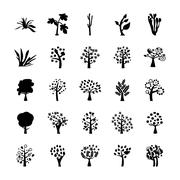 Trees Vector Icons Collection Stock Illustration