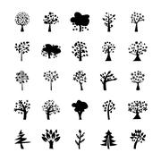 Trees Vector Icons Pack - stock illustration