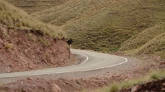 PERU: twisting road in Andes of Peru Stock Footage