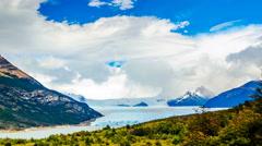 Clouds moving at the Perito Moreno Glacier in Argentina - stock footage