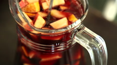 The alcoholic beverage Sangria Stock Footage