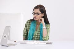 Portrait of a corporate woman Stock Photos