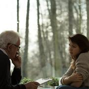 Psychoanalytic session with patient - stock photo