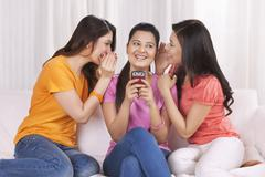 Young women spending leisure time together Stock Photos