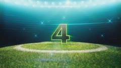 Soccer Countdown-Individual Number - stock footage