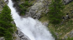 Waterfall in the Valsavarenche Valley in the Gran Paradiso NP, Alps, Italy Stock Footage