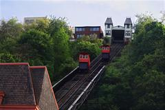 Duquesne Incline in Pittsburgh, Pennsylvania, USA. Stock Photos