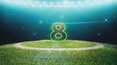 Soccer Countdown-Individual Number Stock Footage
