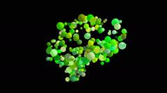 Abstract brain - Digital animation - stock footage