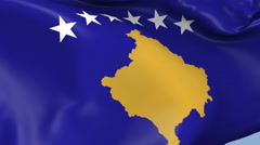 Kosovo Waving Flag Background Loop Stock Footage