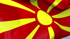 Macedonia Waving Flag Background Loop Stock Footage