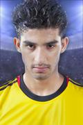 Sweaty soccer player Stock Photos