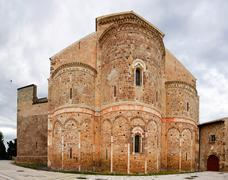 Fisheye of abbey of San Giovanni in Venere in Fossacesia (Italy) - stock photo