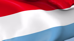 Luxembourg Waving Flag Background Loop Stock Footage