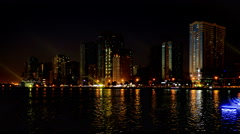 Timelapse of the buildings of downtown at night, Sharjah, UAE Stock Footage