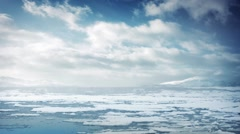 Ice Flow In Arctic Sea Stock Footage