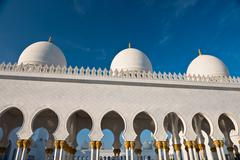 Sheikh Zayed White Mosque in Abu Dhabi, UAE - stock photo