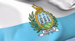 San Marino Waving Flag Background Loop Stock Footage