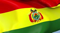Bolivia Waving Flag Background Loop Stock Footage