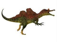 Ichthyovenator Dinosaur Body Stock Illustration