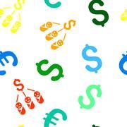 Kid Expenses Flat Vector Seamless Pattern - stock illustration