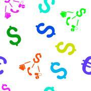 Life Expenses Flat Vector Seamless Pattern - stock illustration