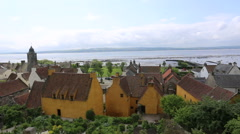 Elevated view of Culross Palace Culross Fife Scotland Stock Footage