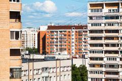 Apartment buildings in city quarter - stock photo