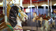 Carousel ride at carnival during night time 4k Stock Footage