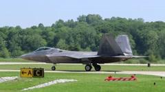 Raptor on runway.m4v - stock footage
