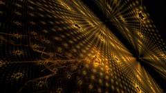 Fractal art stars in seamless looping pitch rotation motion Stock Footage