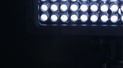 Detail of Professional Led Light. - stock footage