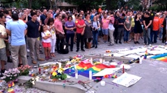 4K Vigil for Orlando mass shooting victims Stock Footage