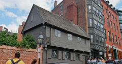 Establishing Shot of Paul Revere House in Boston Stock Footage
