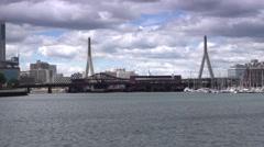 Leonard P. Zakim Bunker Hill Bridge Establishing Shot   Stock Footage