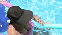 Elderly Women in the Pool, Hydro Gymnastics Stock Footage