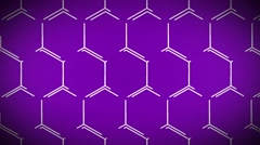 animated technological sci-fi hexagon background loop purple - stock footage