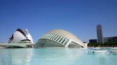 The City of Arts and Sciences, Palau de les Arts Reina Sofia, Hemispheric Stock Footage