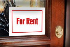 For Rent Sign. Stock Photos