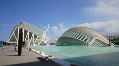 The City of Arts and Sciences, Museum, Hemispheric Stock Footage