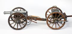 Model of a 1863 Dahlgren cannon with a limber cart. Stock Photos