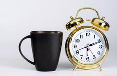 Breakfast time to get up with room for your type. - stock photo