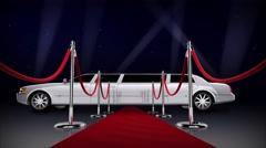 Red Carpet Hollywood Nights 4K Loop - stock footage