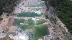 Pedernales Falls in Johnson City Texas. Stock Footage