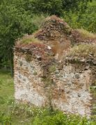 Remnants of medieval church - stock photo